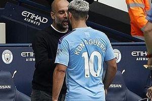 Aguero cãi nhau nảy lửa với Pep Guardiola