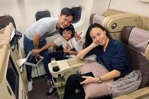 Sau ngày cưới, Cường Đô La đưa vợ và con trai Subeo đi du lịch