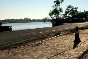 Hệ thống kè trôi sông, Quốc lộ 91 xuất hiện thêm vết nứt