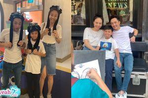 Khoảnh khắc gia đình ba người hạnh phúc của vợ chồng son Đàm Thu Trang - Cường Đô La trong chuyến đi đầu tiên