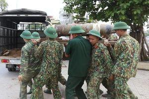 Hải Phòng: Di dời quả bom cỡ lớn dưới sông Tam Bạc về nơi an toàn