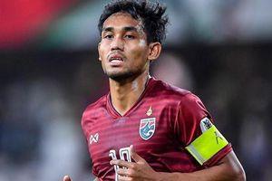 Dangda bị loại, Thái Lan dùng 2 tiền đạo đấu tuyển Việt Nam