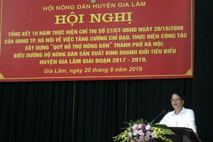 Huyện Gia Lâm tổng kết, biểu dương hộ nông dân sản xuất kinh doanh giỏi