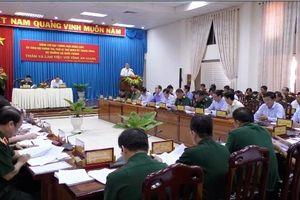 Bộ trưởng Quốc phòng Ngô Xuân Lịch làm việc tại An Giang