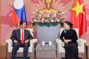 Chủ tịch Quốc hội tiếp Phó Chủ tịch Quốc hội CHDCND Lào