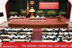 HĐND tỉnh Hà Tĩnh họp bất thường thông qua 5 nghị quyết quan trọng