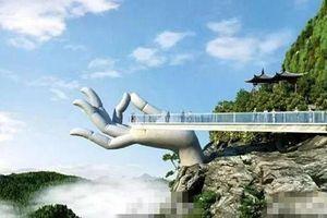 Xôn xao khi Trung Quốc mở cửa cây cầu có thiết kế giống cầu Vàng ở Việt Nam