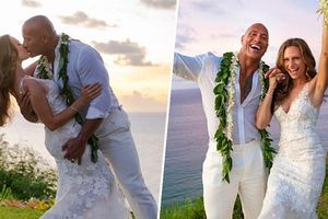 Người hùng cơ bắp 'The Rock' chính thức kết hôn