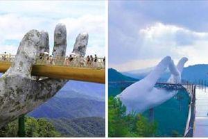 Xôn xao cây cầu Trung Quốc nhái cầu Vàng của Việt Nam
