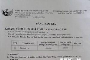 Bà Rịa-Vũng Tàu: Kiến nghị phê duyệt giá xử lý rác thải y tế hợp lý