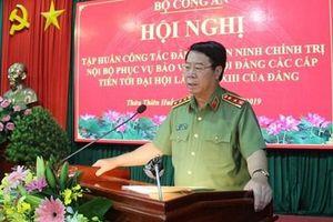 Tập huấn công tác đảm bảo an ninh, trật tự phục vụ Đại hội Đảng
