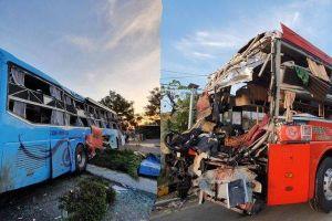 Hiện trường kinh hoàng vụ 2 xe khách tông nhau ở Khánh Hòa khiến hơn 40 người thương vong