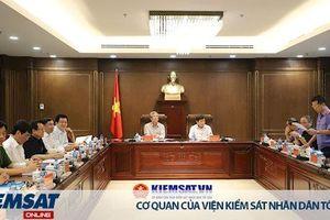 Thường trực Ban Bí thư làm việc với Ban cán sự đảng VKSND tối cao