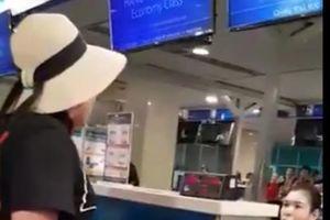 Quát tháo, gây rối tại sân bay, nữ hành khách bị từ chối vận chuyển