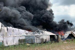 Cháy kho nhớt ở Hóc Môn, một công ty bị vạ lây