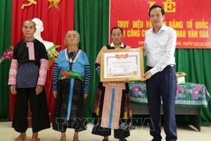 Công nhận Liệt sỹ cho trưởng Công an xã Thao Văn Súa