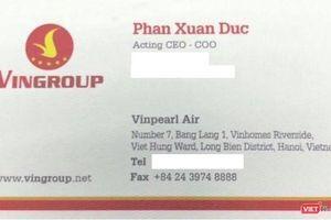 Tổng Giám đốc Vinpearl Air Phan Xuân Đức là ai?
