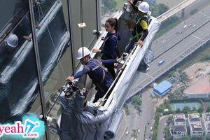 'Tiền đình' với thử thách tại tòa nhà cao nhất Đông Nam Á ở Sài Gòn trong chặng thứ 8 'Cuộc đua kỳ thú 2019'.