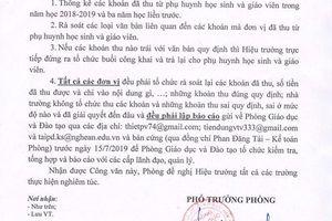 Một số trường học ở Kỳ Sơn thu tiền sai đã hoàn trả đầy đủ cho phụ huynh