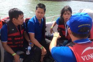 Vietsovpetro kịp thời cứu 19 người đi cano bị lật trên biển Vũng Tàu
