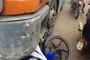 Truy tìm tài xế container trong vụ tai nạn khiến Trung úy Công an tử nạn