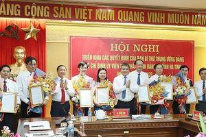 Ban Bí thư Trung ương Đảng chỉ định hàng loạt nhân sự mới ở Hà Tĩnh
