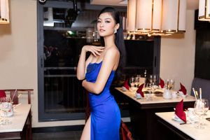 Diện váy xẻ cao đến tận hông, á hậu Kiều Loan khiến fan ngây ngất