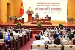 Phú Thọ: Miễn nhiệm 1 Phó chủ tịch HĐND, bầu 2 Phó chủ tịch UBND và HĐND