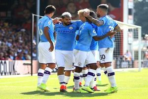 Man City thắng dễ Bournemouth 3-1