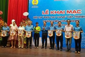 Khai mạc Hội thi Bàn tay vàng điện công nghiệp cấp thành phố
