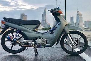 Chi tiết 'xe máy cỏ' Honda Wave độ 190cc ở Sài Gòn