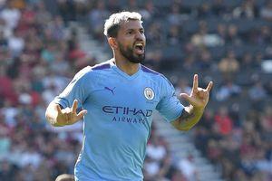 Sergio Aguero lập cú đúp, Man City đè bẹp Bournemouth