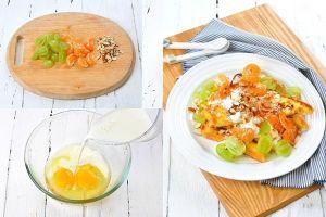 Bữa sáng nhanh gọn với bánh mì salad trái cây cực hấp dẫn, lạ miệng