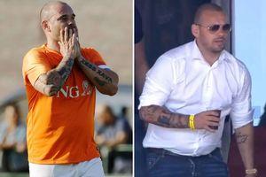 Sneijder phát phì chỉ hai tuần sau tuyên bố giải nghệ
