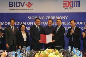 BIDV và EXIM Thái Lan ký kết Thỏa thuận hợp tác chung