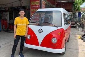 Nam sinh ở Nam Định tiếp tục 'trình làng' ô tô thứ 2 chạy bằng năng lượng mặt trời