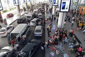 'Cò' taxi dù sân bay Nội Bài nhổ nước bọt vào nhân viên an ninh
