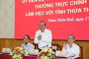 Tháo gỡ vướng mắc để Thừa Thiên-Huế phát triển nhanh và bền vững