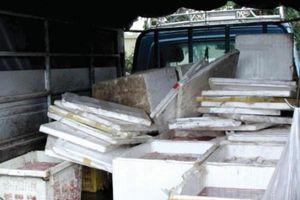Bắt giữ hai đối tượng vận chuyển 1,6 tấn thực phẩm nhập lậu