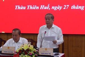 Phó Thủ tướng Thường trực Trương Hòa Bình làm việc với tỉnh Thừa Thiên - Huế