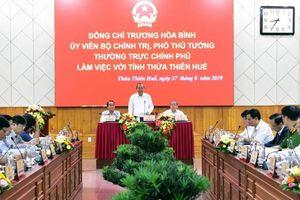Phó Thủ tướng Thường trực Chính phủ Trương Hòa Bình làm việc tại TT - Huế