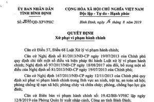 Phạt 95 triệu 4 người Trung Quốc cư trú bất hợp pháp ở Bình Định