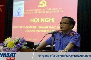 Đảng ủy VKSND tỉnh Nghệ An học tập chuyên đề '50 năm thực hiện Di chúc của Chủ tịch Hồ Chí Minh'