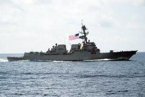 Trung Quốc phản ứng về việc tàu khu trục Hải quân Mỹ tuần tra hàng hải tại Biển Đông