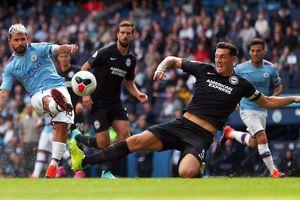 Man City - Brighton 4-0: Aguero ghi cú đúp