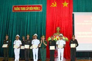 77 cán bộ quân đội Hoàng gia Campuchia tốt nghiệp khóa tiếng Việt tại Trường Trung cấp Biên phòng 2