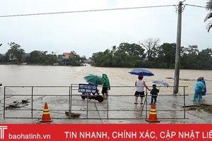 Mưa kết hợp thủy điện xả lũ, nước sông Ngàn Phố vùng hạ Hương Sơn dâng nhanh