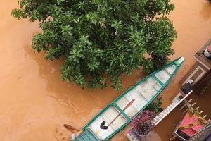 Chùm ảnh nhiều nơi ở Quảng Trị đi lại bằng thuyền