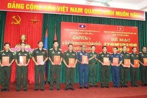 Tập huấn nghiệp vụ công tác Tuyên huấn cho cán bộ Quân đội nhân dân Lào