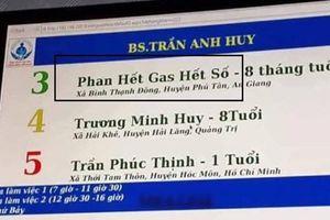 Bé trai tên 'Phan Hết Gas Hết Số' ở An Giang khiến dân mạng hết hồn